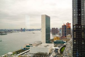 UN Headquarters, View out of The Consulate General of Germany, 871 United Nations Plaza, New York © Dr. Oda Cordes