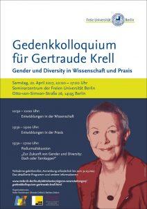 Gedenkkolloquium für Gertraude Krell @ Seminarzentrum der Freien Universität Berlin
